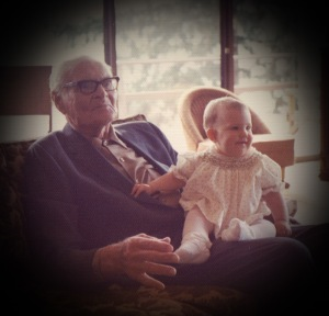 Grandpa Sand is now great-grandfather to Amy.. not quite a year old. Treasured picture as he passed away shortly before Amy's sister was born.