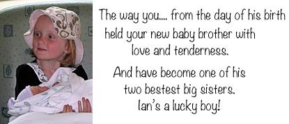 Emily holding baby Ian