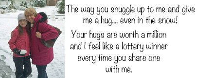 emily's snow hug